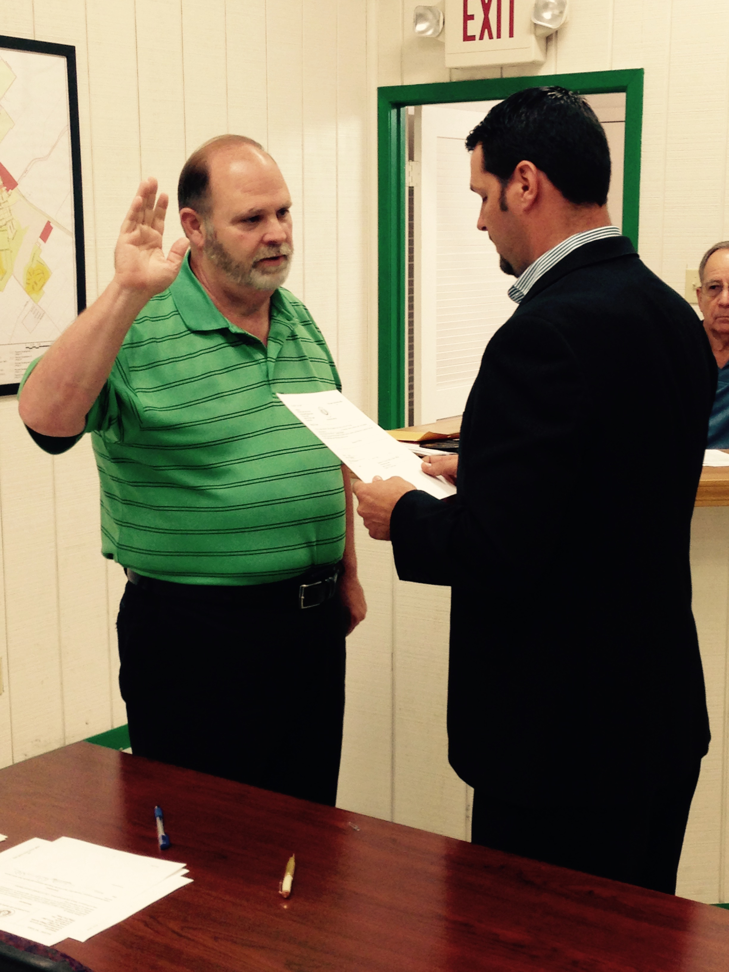 danny kirbie swearing in